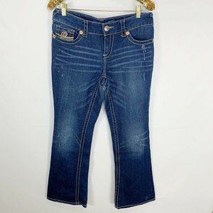 7 for All Mankind Womens Bootcut Distressed Jeans